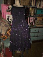 RIVAR'S Regal Purple Sparkling Cocktail Dress Size 9/10