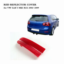 1 Pair Red Rear Bumper Tail Reflectors Cover Fit for VW Golf 5 MK5 R32 06-09