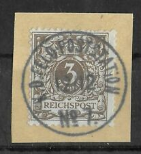 CHINA GERMAN OFFICES 1900 Used on Paper Forerunner 3 Pf Feldpoststation Signed