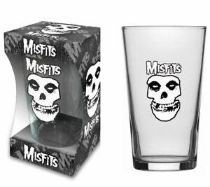 Misfits Skull Logo Beer Glass (rz)