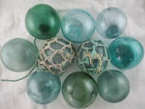 10 Beach Combed Japanese Glass Floats VINTAGE & Lots of Variety Alaska BeachBUM