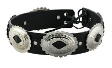 Studded Hat Band for Cowboy Hats, Slash Steampunk Genuine Leather Tophat