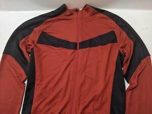 Specialized Full Zip Long Sleeve Sz XL Red Black Men's Cycling Jersey Jacket EUC