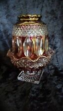 Westmoreland Glass Ruby Wakefield 2 Piece Fairy Lamp Candle Holder