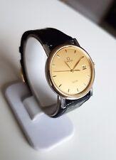 Omega De Ville, Mens Wrist Watch, 18K Solid Gold bezel and SS, cal 1430