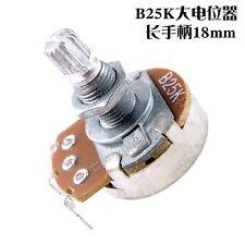 2Pcs Full Size B25K long Split shaft Guitar Bass Volume Tone Pots Potentiometer