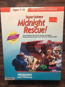 Vintage Big Box Super Solvers Midnight Rescue!SEALED for Macintosh