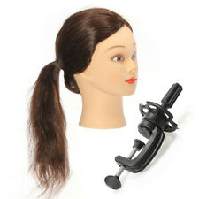 80 Percent Human Hair Hairdressing Training Head Practice Model With Clamp Real