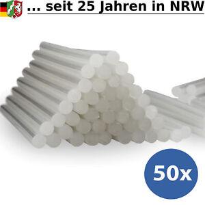 50x Klebesticks 11mm x 200mm Heißkleber Heißklebestifte Klebepatronen Sticks Set