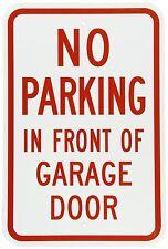 """NO parking DO NOT park in front of garage door 12"""" x 8"""" Aluminum Sign USA"""