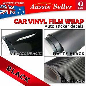 Glossy Vinyl Film Black/Matte Black/3D Carbon Fiber Auto Exterior Wrapping Decal