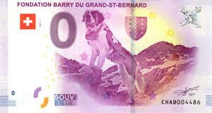 SUISSE Martigny, Fondation Barry du Grand St-Bernard, 2017, Billet Euro Souvenir
