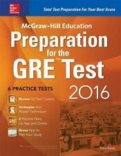 McGraw-Hill Education Preparation for the GRE Test 2016: Strategies + 6 Practice