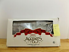 VTG NOMA ACCENTS CLEAR BUBBLE LIGHTS  SET OF 7 (#6)