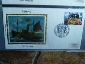 1981 FISHING SILK  FIRST DAY COVER UK