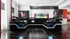 Ledersofa Big XXL Couch Ecksofa Wohnlandschaft Couch Polster Sitz XXL Garnitur
