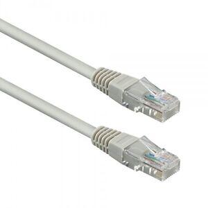 10m Netzwerkkabel - Patchkabel Cat 5e FTP, grau