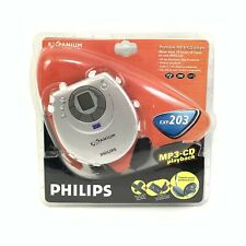 NEW PHILIPS EXPANIUM EXP203 Portable CD MP3 Player W/ Cassette Car Adapter 6409