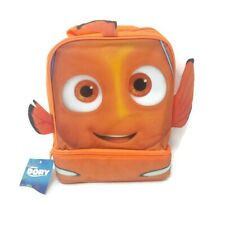 Finding Dory Nemo Insulated Lunch Bag Box 2 Compartments Fins Back to School