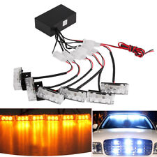 Autos 18-LED Amber Strobe Emergency Flashing Police Warning Grill Light Lamp 12V
