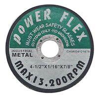 "200pcs  Cut-Off Wheel 4-1//2/"" X 1//32/"" X 7//8/"" Pirahna Power"