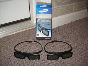 Samsung SSG-3050GB Stereoscopic 3D Active Glasses - Black...1 Pair!