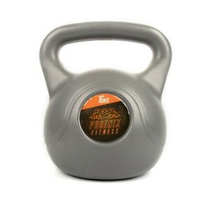 16KG Heavy Weight Vinyl Kettlebell for Strength and Cardio Training, Grey