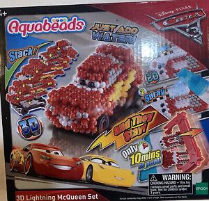 Disney Pixar Cars 3 Aqua beads Aquabeads 3D Lightning McQueen Set