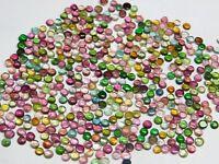 50 Pieces 3/4 MM Wholesale Lot Natural Multi Tourmaline Round Colorful Gemstones