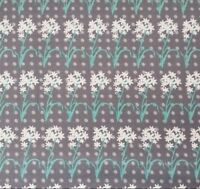 Juicy Blossoms Simon + Kabuki for Quilting Treasures BTY White Aqua Gray Floral