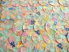Huge Vtg Lot 60 Hand Stitched Dresden Plate Feed Sack Quilt Rounds Pieces