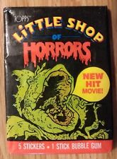 Unopened Pack 1986 Topps Little Shop of Horrors Movie Trading Sticker Cards