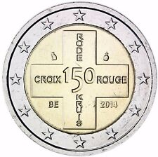 Belgien 2 Euro 2014 Rotes Kreuz Gedenkmünze Stempelglanz im Coin Card