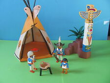 PLAYMOBIL @@ TIPI TOTEM PERSONNAGES INDIENS @@ FAR WEST COWBOY