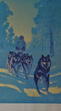 Fred Machetanz, Rarin to Go, S/N  LE Lithograph - Unframed in Mint Condition