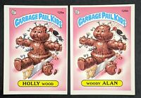 1986 Topps Garbage Pail Kids Series 4 - Holly Wood #125aa and Woody Alan #125bb