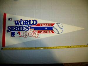 1984 World Series Pennant Orig Full Size Detroit Tigers San Diego Padres Mint