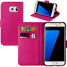 NEW MAGNETIC FLIP LEATHER BOOK WALLET CASE COVER FOR SAMSUNG GALAXY PHONES