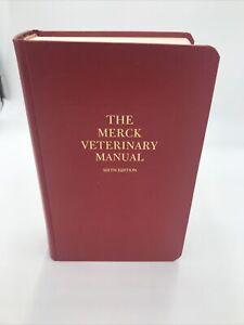 1986 The Merck Veterinary Manual Sixth Edition (Hardcover)