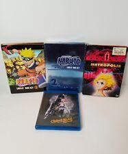 Anime DVD/BLUE RAY lot Naruto Uncut Sets, shonen Jump's metropolos, chaos A.D.