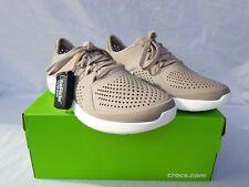 New Men's Crocs Literide Pacer Sneaker 204967 2ZB Cobblestone & White