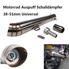 Universal 38-51mm Motorrad Auspuff Schalldämpfer Auspufftopf Slip-On Edelstahl