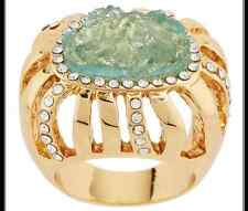 KARA ROSS GOLDTONE SIMULATED DRUSY AND CRYSTAL RING SIZE 6 QVC SOLD OUT $38.00