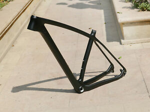 "2021 : Carbon Matt 29ER Mountain Bike Bicycle MTB Frame 19"" 142 * 12mm 135MM QR"