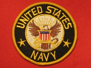 USA UNITED STATES NAVY BADGE CLOTH PATCH SEW ON BADGE NEW