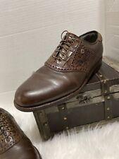 Vtg Mens Footjoy Classics Dry Premiere Golf Shoes Brown Size 9 D Style 50305