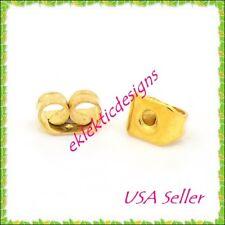 50pcs 5x3.5mm Gold Plated Earnuts Earring Backs Stoppers Plugs 25pr Findings