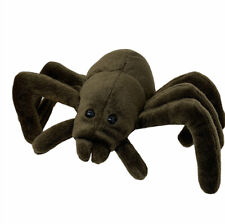 """Nanco Plush Brown Spider Bug 8"""" Soft Stuffed Animal Insect Toy"""