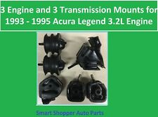 3 Transmission & 3 Engine Mount for 1993 - 1995 Acura Legend 3.2L Automatic Engi