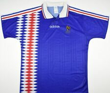 1994-1996 FRANCE ADIDAS HOME FOOTBALL SHIRT (SIZE L)